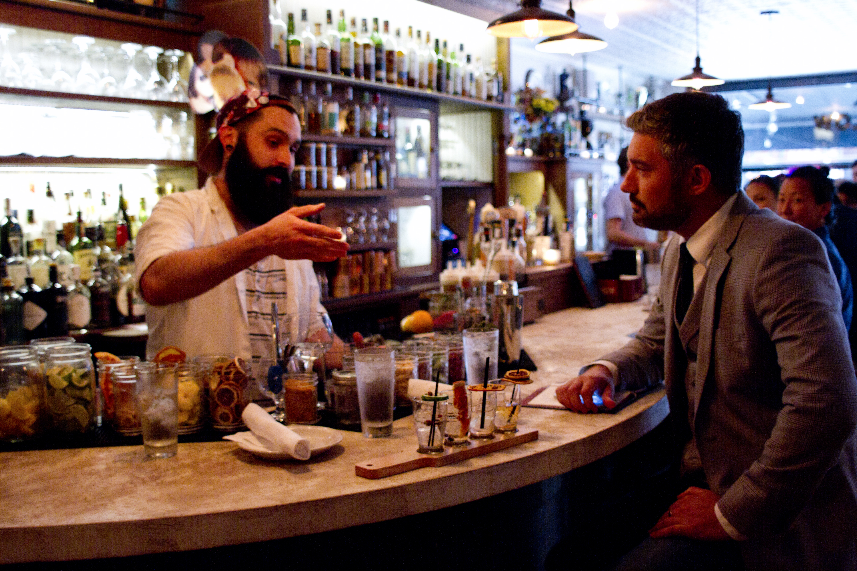 """dating a bartender etiquette """"bartenders love good manners and there's still a gallantry that flows through most hospitality and service which suggests that ladies should be treated like ladies a gent who allows a lady next to him to be served before him will always curry favour and push him to the next spot"""" other surefire ways to be."""